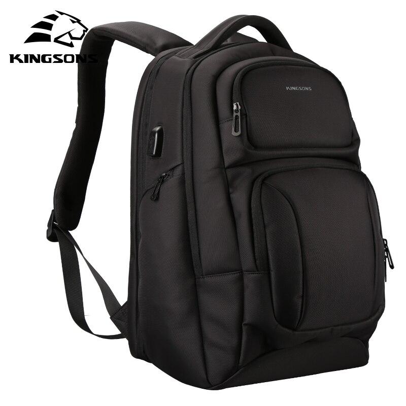 Kingsons 남자 배낭 안티 절도 어깨 가방 노트북 배낭 군사 여행 가방 남성 캐주얼-에서백팩부터 수화물 & 가방 의  그룹 1