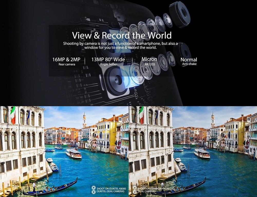 Oukitel K8000 смартфон с двойна камера