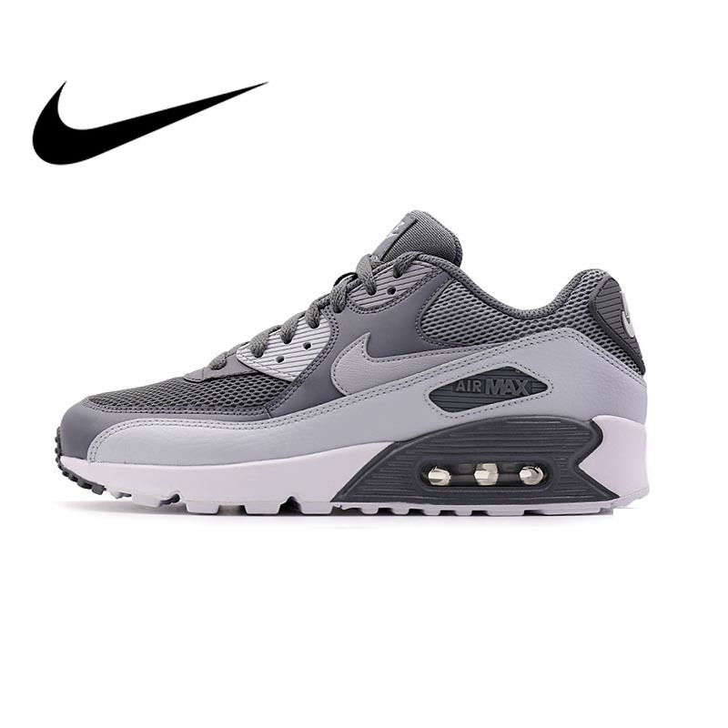 Original Authentic NIKE Men's AIR MAX 90 ESSENTIAL Breathable Running Shoes Sneakers Sport Outdoor Comfortable 537384-073 двухкамерный холодильник scandilux cnf 379 ez x inox