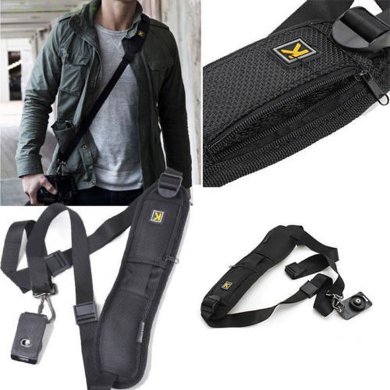 New Adjustable Single Shoulder Sling Belt Strap for DSLR Digital SLR Camera Quick Strap Camera Belt