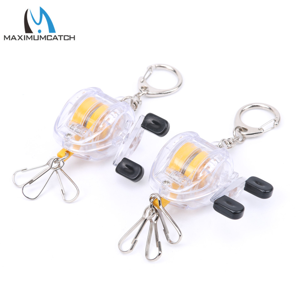 ALI shop ...  ... 32813592180 ... 5 ... Maximumcatch 2pc Fishing Reel Keychain Scroll Retractor Key Chain With Key Ring Fishing Tackles ...