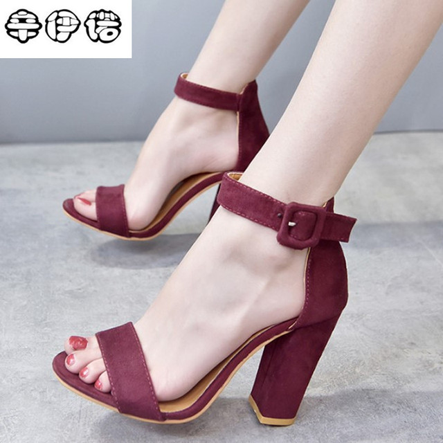 new lower prices discount cheap prices Aliexpress.com : Buy Cheap Brand Wind Suede Leather Girl's Sandals 8cm Navy  Female High Heels Shoes Woman Beach Sandals Ankle Strap Heels Size 35 43 ...