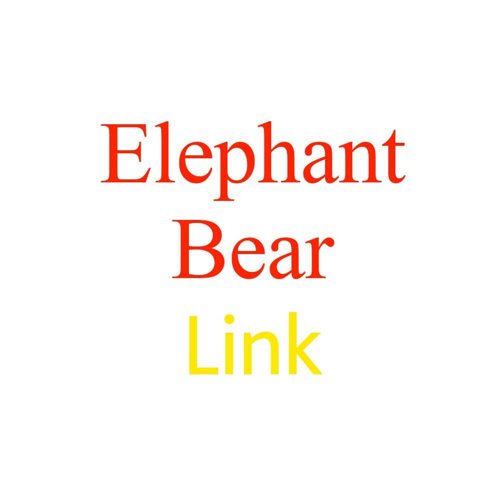 Música elefante y oso de peluche de juguete