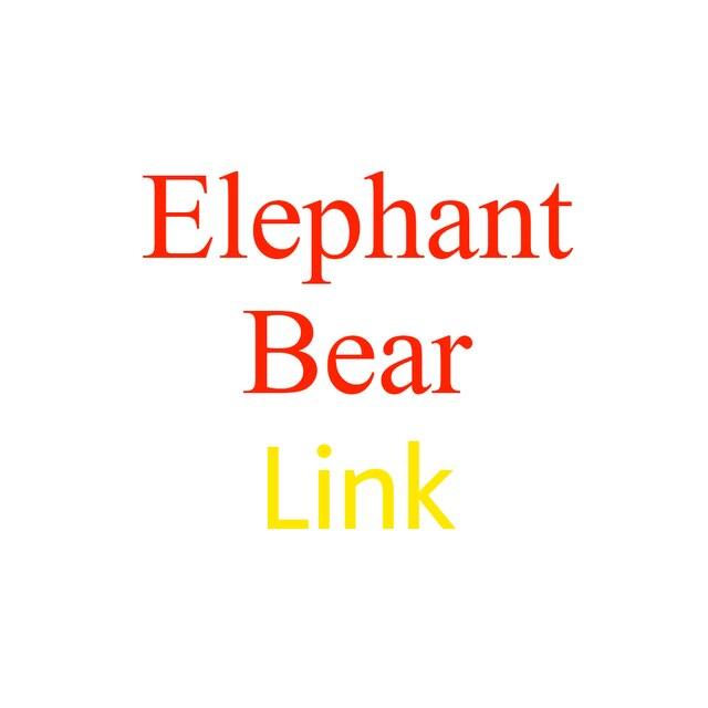 Música elephant & Urso de brinquedo de Pelúcia