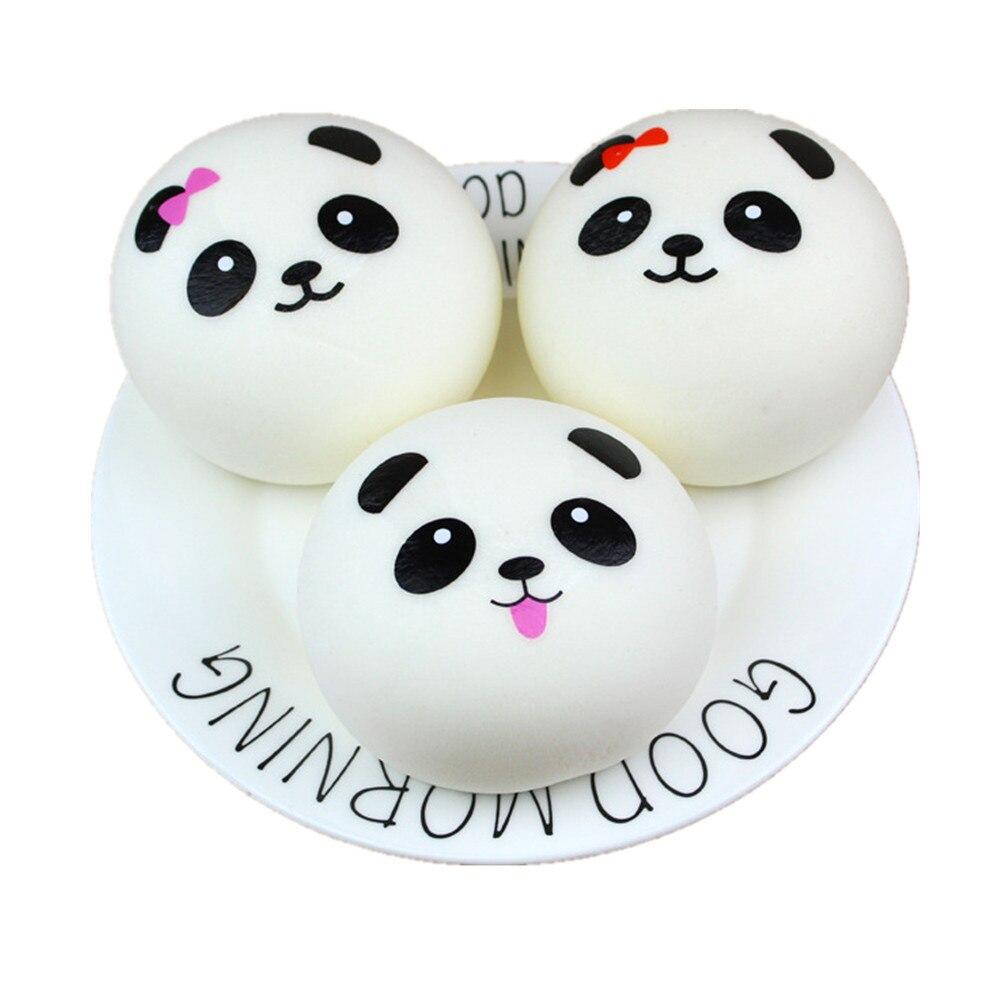 Cute Squishy Panda Bun Squishy Slow Rising Cream Scented Decompression Toys Squeeze Healing Toy Kawaii Stress Reliever Ball