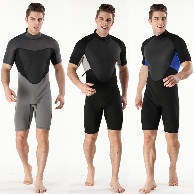 2MM scuba diving suit mens warm diving suit short sleeved short pants submersible suit