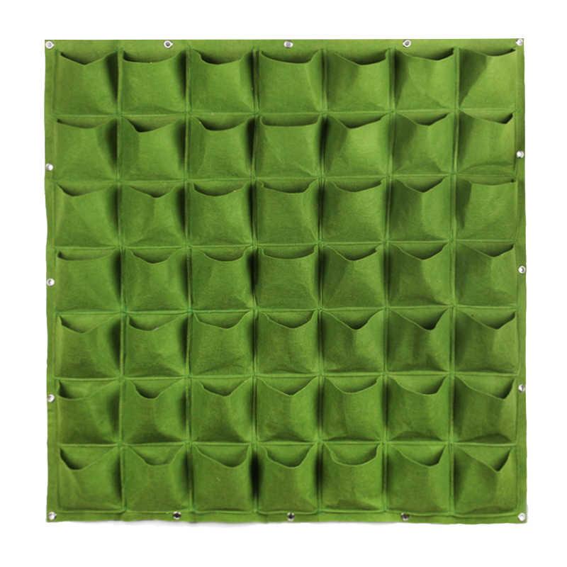 4/7/9/18/25/36/49/72 ช่องแขวนผนังปลูกถุง green Plant Grow Plantter สวนแนวตั้ง Living กระเป๋าสวนอุปกรณ์กระเป๋า