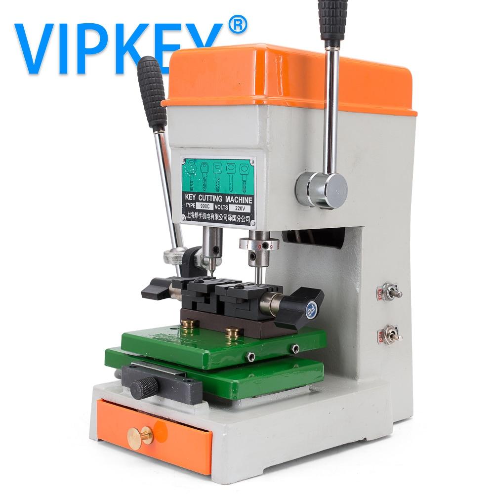 GOSO 998C key Cutting Machine 220v 50hz Key Copy Machine vertical auto Car key duplicator drill milling cloner locksmith tools все цены