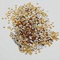 2mm 3mm 4mm 5mm5000pcs/lot TENIENTE CORONEL Topaz color Del Arte Del Clavo 3D Pegamento En No-Strass hotfix Flatback del rhinestone DIY Glitters