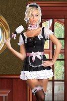 LIVRAISON GRATUITE Sexy domestique Française serveuse serviteur costume chambre outfit Fantaisie Robe Costume