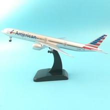 цена на Aliexpress 11.11 Hot sale 20CM American Airlines Boeing 777 Airplane model  Plane model 16CM UNITED STATES OF AMERICA Aircraft