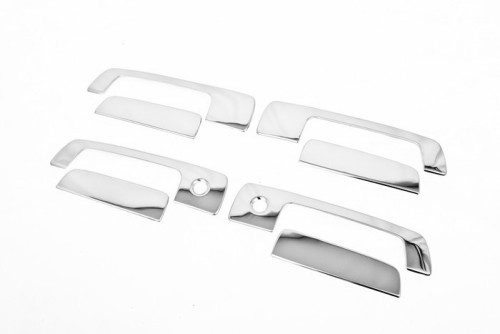 Chrome <font><b>Door</b></font> <font><b>Handle</b></font> Cover for <font><b>Mitsubishi</b></font> Lancer / <font><b>Mirage</b></font> 97-01 / Evolution Gen 4-6 image