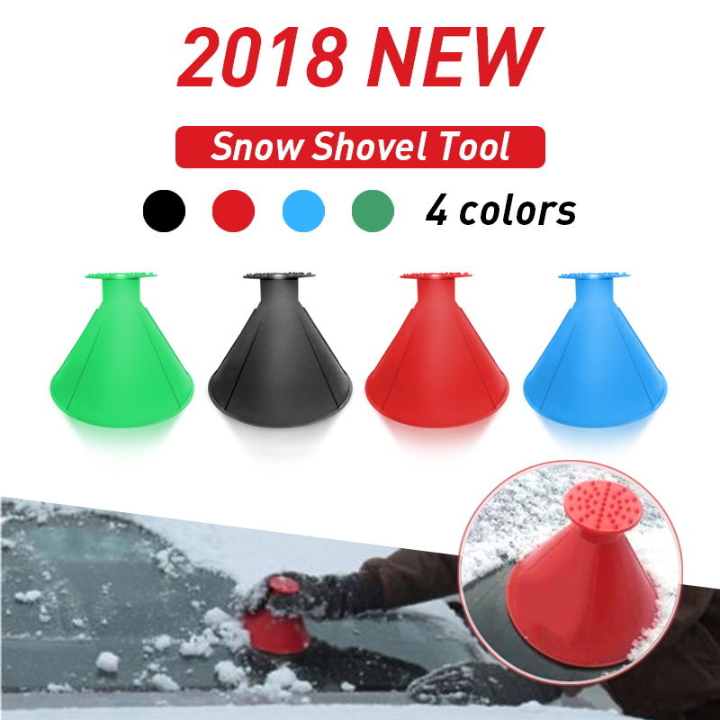 Ice Scraper Magic Outdoor Ice Shovel Cone Shaped Funnel Snow Remover Tool Useful Car Windshield Snow Removal Scraper 12.5cm wide