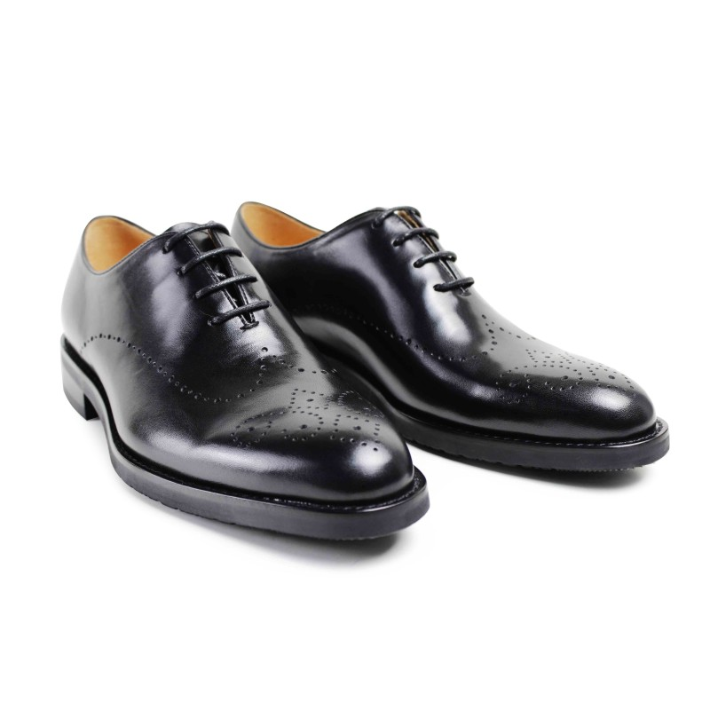 2017 Italy Men Flat Classic Black Custom Mens Oxford Shoes Formal Dress Party Business Wedding Genuine Leather Original Design blaibilton formal dress men shoes oxford 100