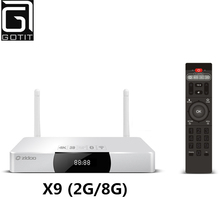 ZIDOO X9 Allwinner H3 Quad Core Android TV Box 2G/8G H.265/HEVC 4 Karat Ausgang 802.11b/g/n 2,4 GHz WiFi LAN Bluetooth OTA Smart TV Box(China (Mainland))