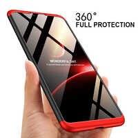 3-en-1 de plástico duro de 360 protección Funda para for Xiaomi Mi 8 Lite Funda Xiomi Mi 8 Mi8 anti-Shock plenamente de la contraportada de la PC Carcasa Funda para xiomi mi a1 a2 Funda para xiomi mi 8 lite case