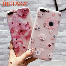 Fashion Flower Silicon Phone Case For iPhone
