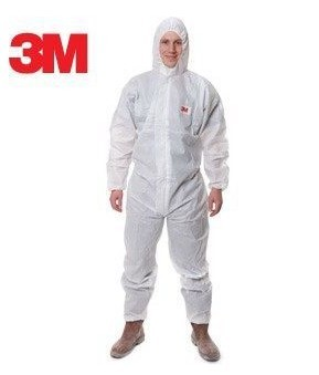 3M 4515 Safety Clothing Disposable Protective Coveralls White Hooded Anti Particulate matter Liquid for Pesticide/spray LT056 south nuclear 1201 disposable particulate protective mask with breathing valve kn90 gb2626 2006 la qs certification jr009