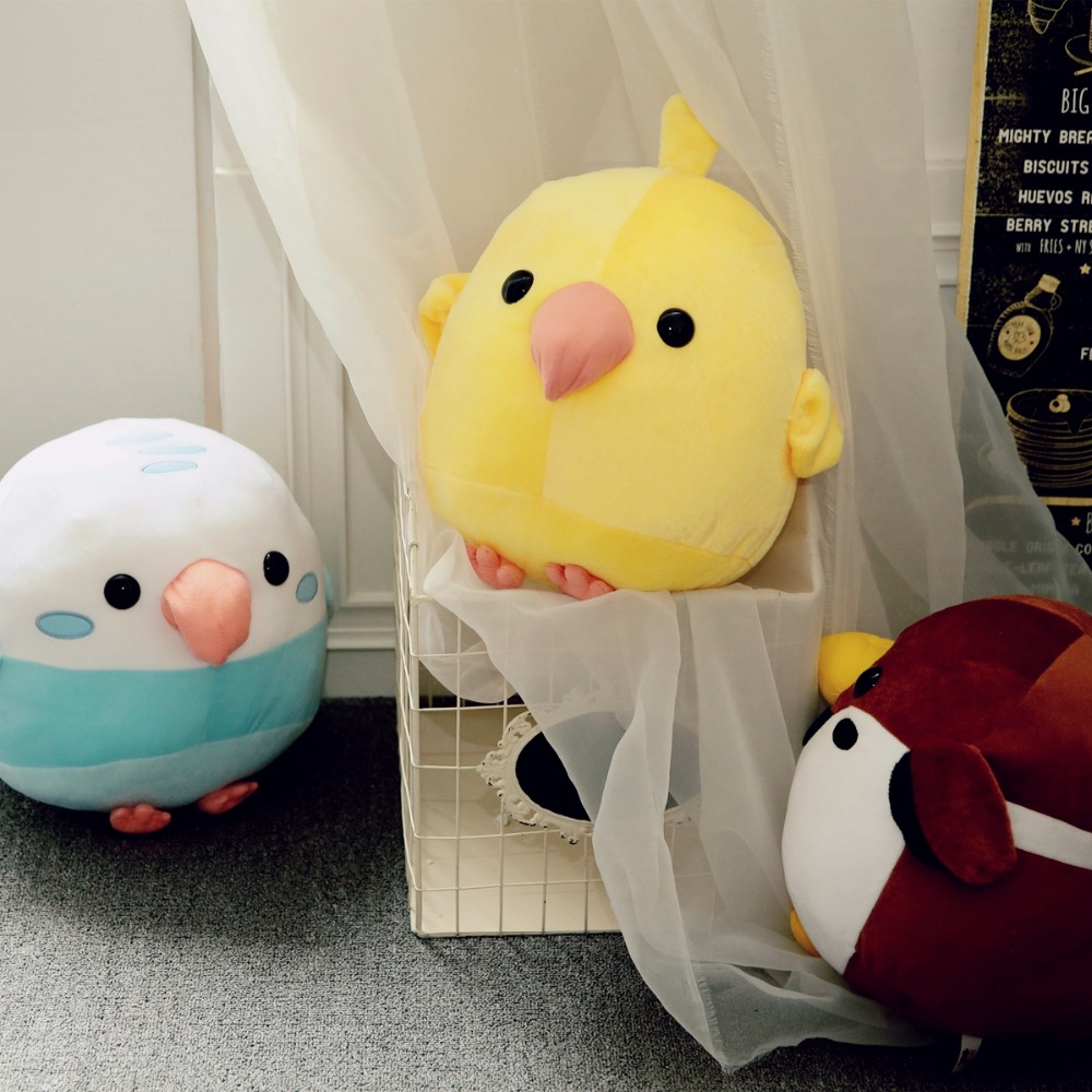 1pc 30cm Bird Fight Group Stuffed Animal Plush Bird Parrot and Sparrow Simulation Toy Soft Kawaii Gift for Girl And Kid 1pc 38cm stuffed animal plush hamster creative simulation plush toy stuffed doll soft toy kawaii christmas gift for kid