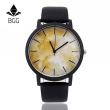 Часы с мраморной отделкой в британском стиле Модные мраморные часы с циферблатом уникальные мужские и женские кварцевые наручные часы простые часы из натуральной кожи