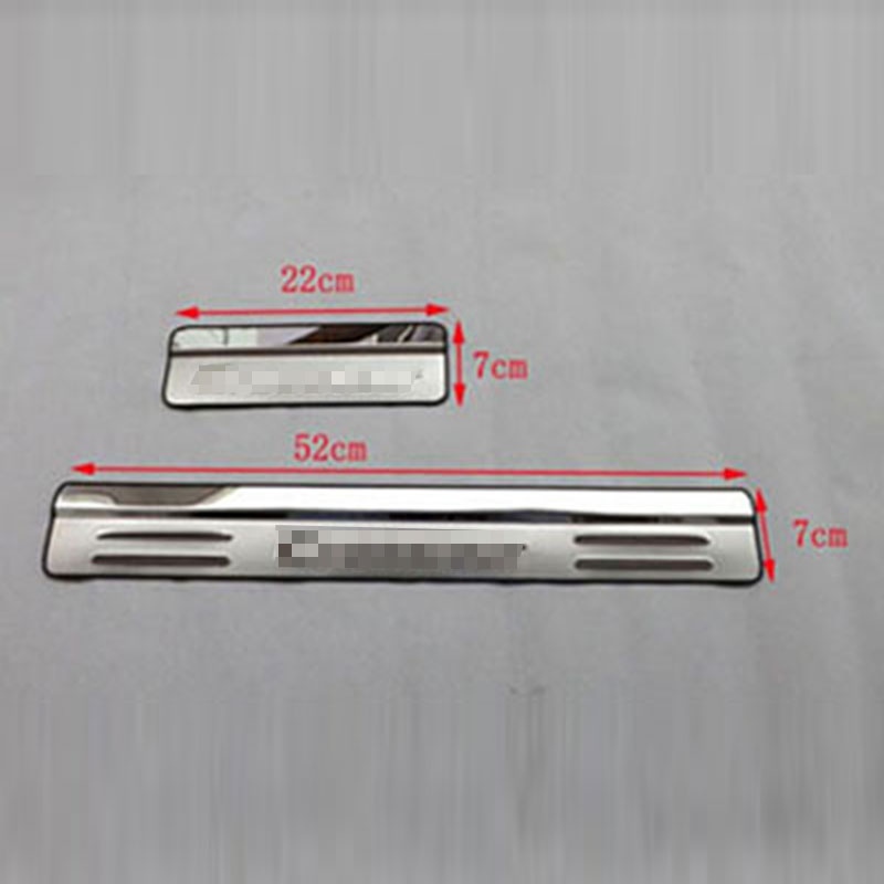 for Honda Crosstour 2011 2014 2015 Stainless Steel Door Sill Strip Welcome Pedal Car Styling Stickers Auto Accessories 4 Pcs in Chromium Styling from Automobiles Motorcycles