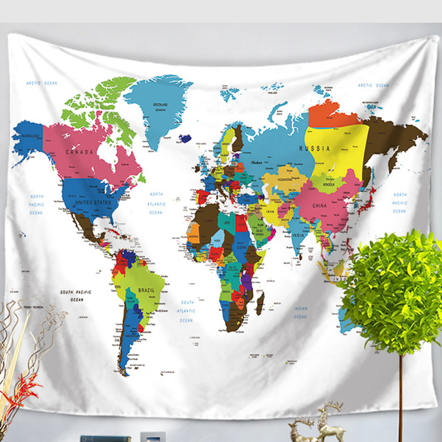 Indian style wall hanging tapestry vintage world map tapestry indian style wall hanging tapestry vintage world map tapestry bedspread living room dining room art wall gumiabroncs Images