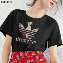 YOFOCOO Game of Thrones Women T-Shirt Print Not Today Casual Summer Top Tees For Fashion T-shirt