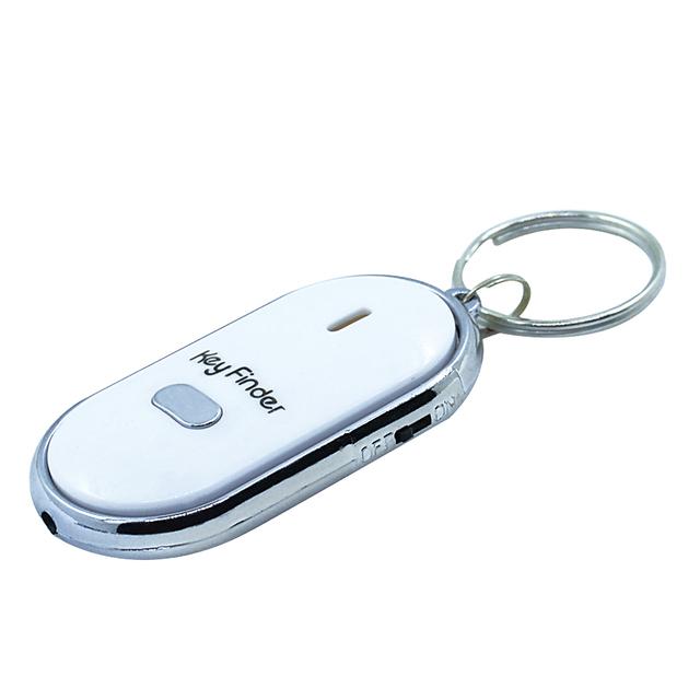 Mini Whistle Anti Lost KeyFinder Alarm Wallet Pet Tracker Smart Flashing Beeping Remote Locator Keychain Tracer Key Finder + LED