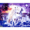 NEW Oil Paintings By Numbers DIY Digital Horse Pictures Frameless Seascape Coloring By Number On Canvas