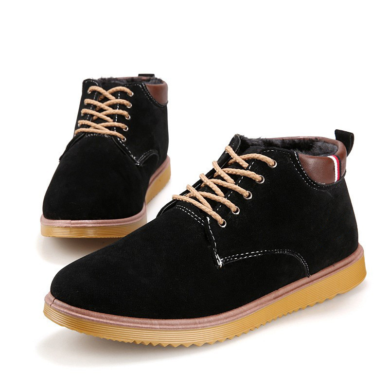 Size 39 44 New Men Warm Winter Snow Boots Casual Men s Thick Cotton Shoes Hot