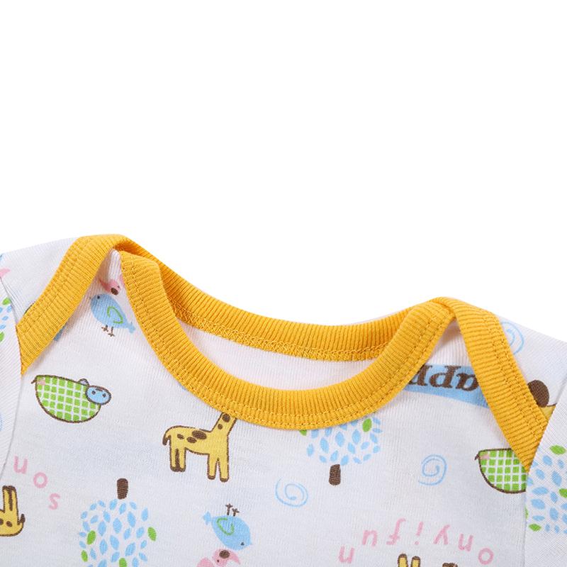 Newborn Baby Bodysuit Mother nest 2017 New Style Short Sleeve Print Little Ship Body Rope Bebe Boys Girls Clothes  (2)