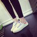 2016 Women Casual Canvas shoes New White flats with shoes Lace-up fashion Spring Outdoor women casual shoes ST778