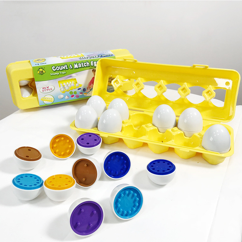 Hot 12 Eggs/set Education Learning Toys Mixed Shape Wise Pretend Puzzle Smart Eggs Baby Kid Egg Learning Puzzles For Children
