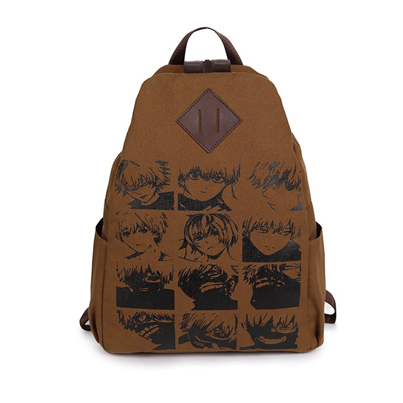 Anime Cartoon Tokyo Ghoul Cosplay Backpack Schoolbag One Piece Gintama School Bag Rucksack Men's Women's Naruto Travel Bag 2017 anime cartoon tokyo ghoul bag kaneki ken school bags travel durable teenager school tokyo ghoul cosplay backpack