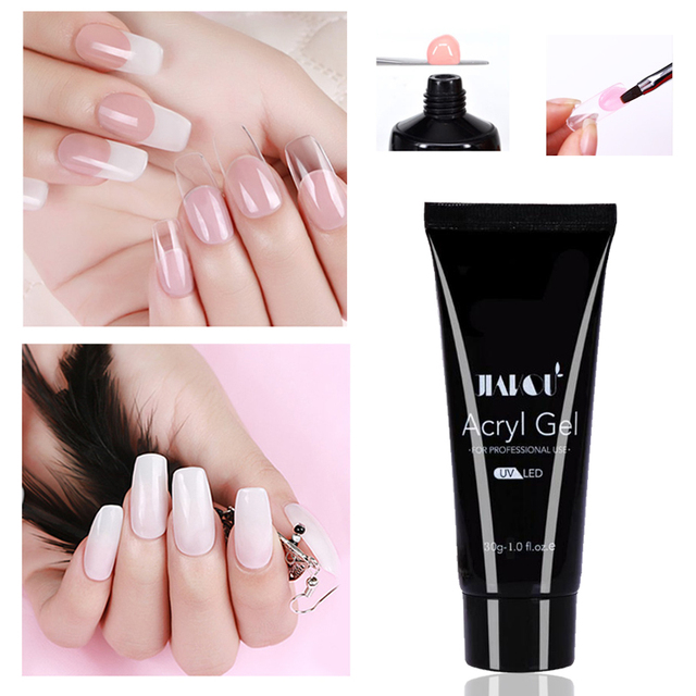 Newest 30g Poly Gel Nail Art Transpa Clear Camouflage Color Fibre Gl Uv Led Hard Jelly