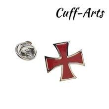 Broche de solapa para hombres pines y broches de la Cruz Roja Pin para solapa con insignia joyería de Broche Pin de la solapa de Cuffarts P10201