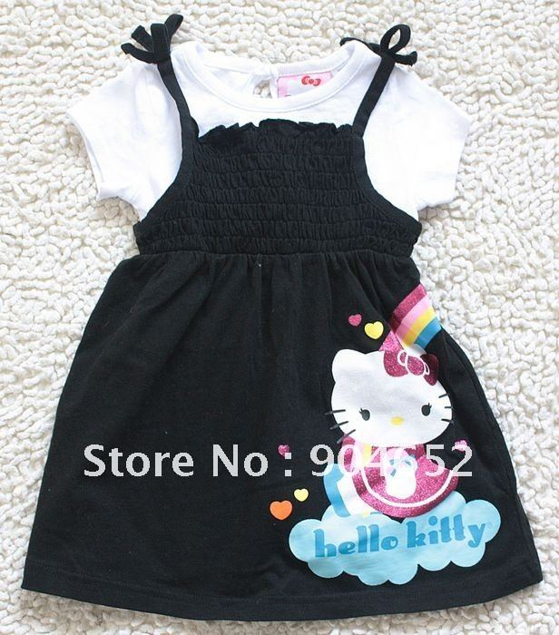 9f8479e6820 Brand! wholesale 2012 dress Hello Kitty baby clothing girls short sleeve  Spring 2pc dress set cute Cartoon dresses free shipping-in Dresses from  Mother ...