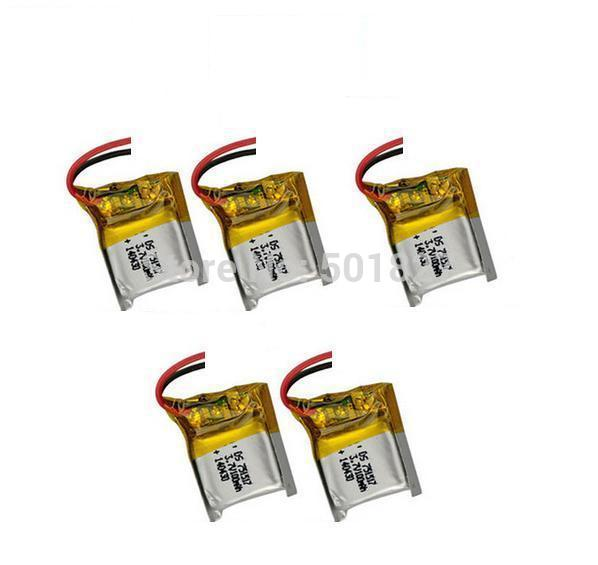 YUKALA 5pcs X 3.7V 100mAh lipo Battery for CX-10 CX10 RC Quadcopter Parts for CX-10 CX10.Free Shipping.