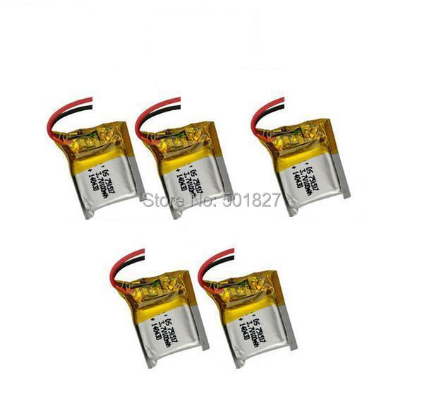 YUKALA 5pcs X <font><b>3.7V</b></font> <font><b>100mAh</b></font> <font><b>lipo</b></font> <font><b>Battery</b></font> for CX-10 CX10 RC Quadcopter Spare Parts for CX-10 CX10.Free Shipping. image