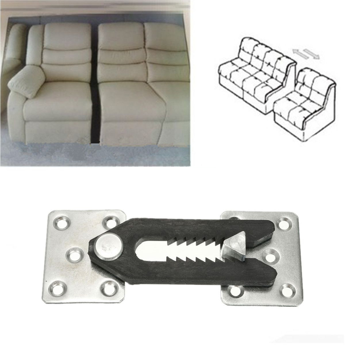 2pcs Sofa Sectional Furniture Couch Connector Plastic Bracket Snap