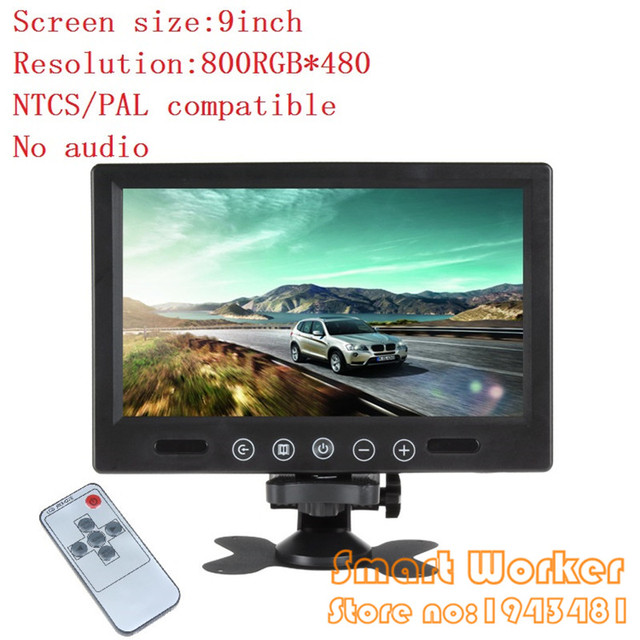 US $90 47 |TFT LCD Car Monitor 9 Inch Big Screen Remote Control For Bus  Truck Rear View Camera DVD Parking Assistance PAL/NTSC Compatible-in Car