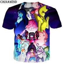 7805785b138 Fashion funny Cartoon Steven Universe t shirt men women 3D printed t-shirts  Short