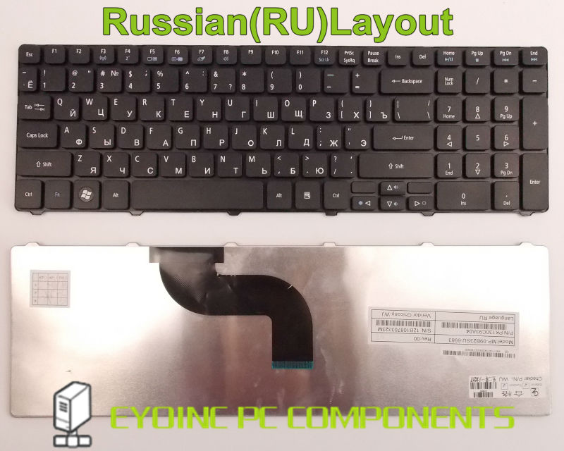 Laptop Keyboard for <font><b>Acer</b></font> <font><b>Aspire</b></font> 7736 7736Z 7736G <font><b>7736ZG</b></font> 7738 7738G 7738/g RU Russian Version image