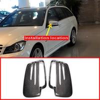 2x Real Carbon Achteruitkijkspiegel Cap Cover Voor Mercedes Benz Een W176 B W246 C W204 E W212 Cla W117 gla X156 Glk X204 Cls Klasse W218