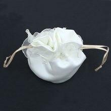 546a97717854 2016 New Beautiful Ivory White Satin Wedding Bride Bridesmaid Dolly Bag  High Quality Handbag Wholesale