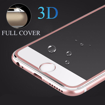 1000pcs Titanium Alloy Metal Frame Curved Full Cover Tempered Glass Anti Shock Screen Protector Guard Film for IPhone 7 6 Plus