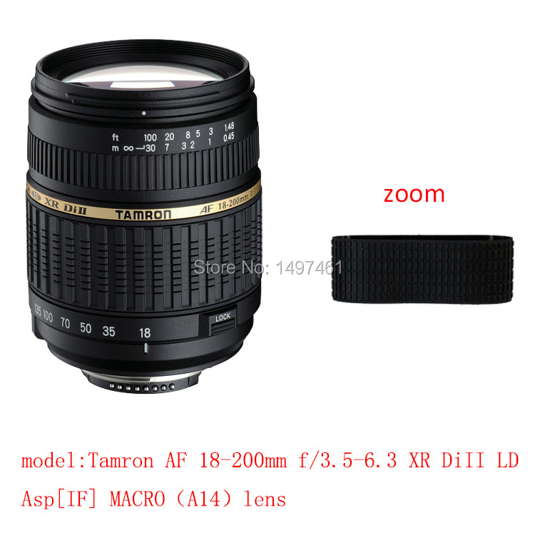 Lens Zoom Rubber Ring/Rubber Grip Repair Succedaneum For Tamron AF18-200mm f/3.5-6.3 XR DiII LD Asp[IF] macro A14 lens
