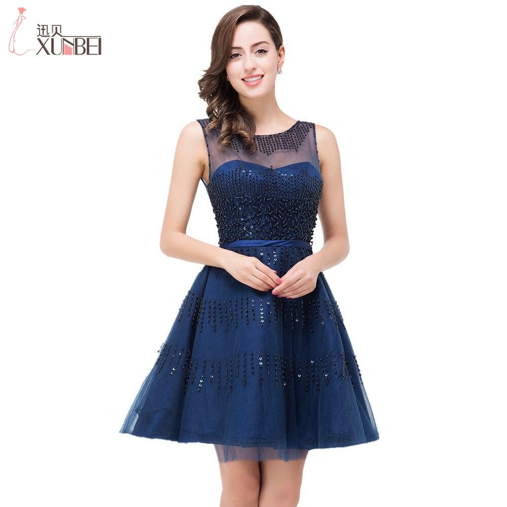 Темно синие короткое платье