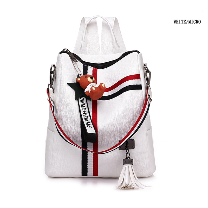 Bags For Women  New Retro Fashion Zipper Ladies Backpack Pu  Leather High Quality School Bag Shoulder Bag For Youth Bags #3
