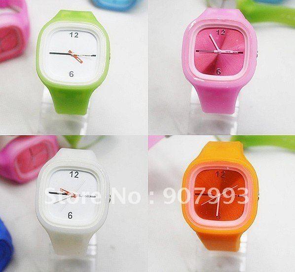 DHL/UPS Free shipping,100pcs/lot,2011 HOT fashion candy watch gift box,corlorful fashion watch,wholesale